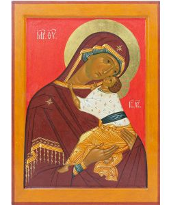 Mother of God of Novgorod tenderness 25x35 cm